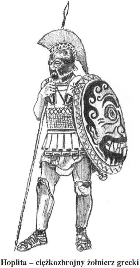 Hoplita - ciężkozbrojny żołnierz grecki