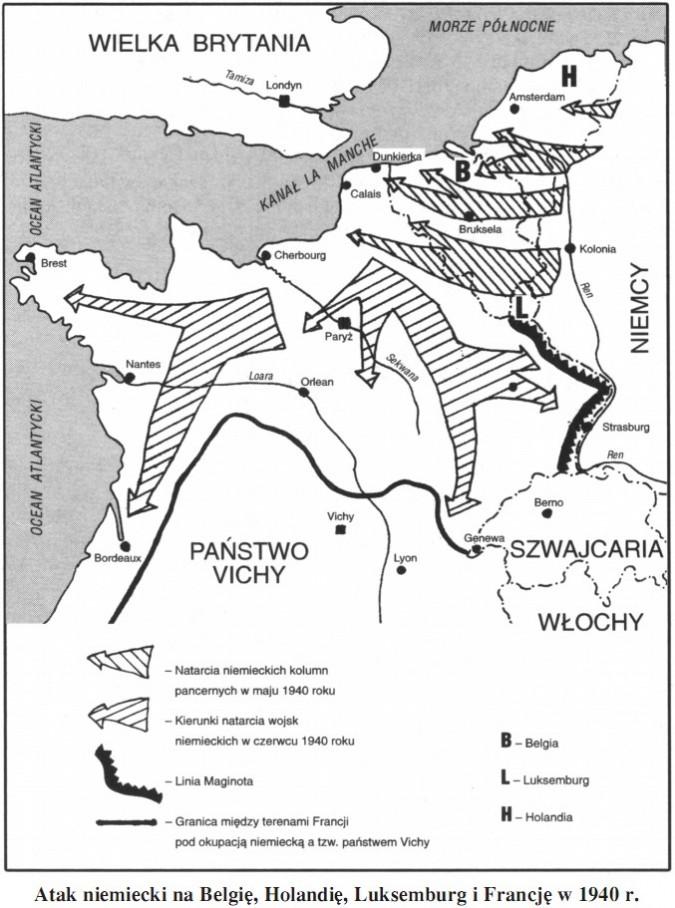 Atak niemiecki na Belgię, Holandię, Luksemburg i Francję w 1940 r.