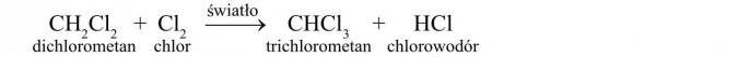 Właściwości chemiczne - reakcja substytucji.